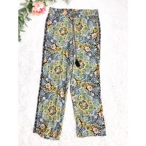 LOFT Petite Floral Print Pallazo Pants